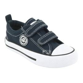 Sneakers Velcro américaines bleu marine American Club LH35 1
