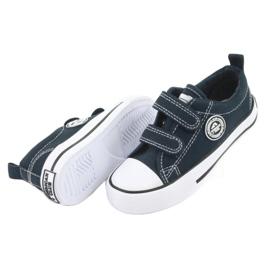 Sneakers Velcro américaines bleu marine American Club LH35 4