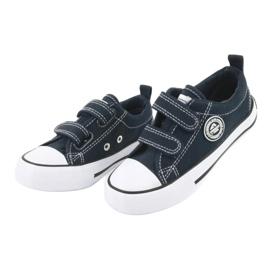 Sneakers Velcro américaines bleu marine American Club LH35 2