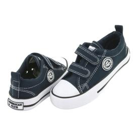 Sneakers Velcro américaines bleu marine American Club LH35 3