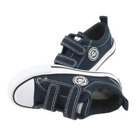 Sneakers Velcro américaines bleu marine American Club LH35 5