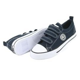 American Club Sneakers enfant américain avec velcro LH33 blanc marine 3