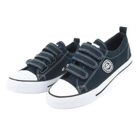 American Club Sneakers enfant américain avec velcro LH33 blanc marine 2