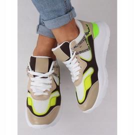 JD01P Blanc chaussures de sport pour femmes multicolore 1