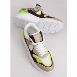 JD01P Blanc chaussures de sport pour femmes multicolore 3