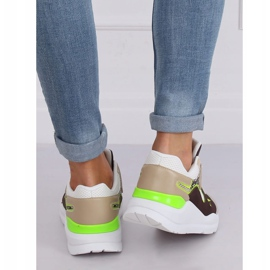 JD01P Blanc chaussures de sport pour femmes multicolore 2
