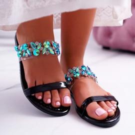 Chaussons pour femmes Lu Boo élégant avec zircone cubique noir élémentaire 2