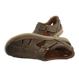 Riko 458 sandales de confort pour hommes brun 5