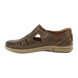 Riko 458 sandales de confort pour hommes brun 2