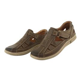 Riko 458 sandales de confort pour hommes brun 3