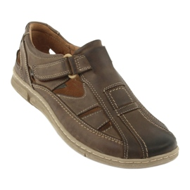 Riko 458 sandales de confort pour hommes brun 1