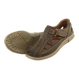 Riko 458 sandales de confort pour hommes brun 4