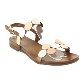 Sandales dorées Daszyński MR1958-1 1