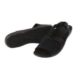 Sandales confortables pour femmes noires Adanex 17498 le noir 2
