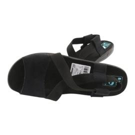 Sandales confortables pour femmes noires Adanex 17498 le noir 3