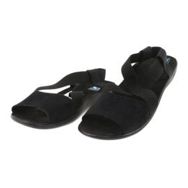 Sandales confortables pour femmes noires Adanex 17498 le noir 1