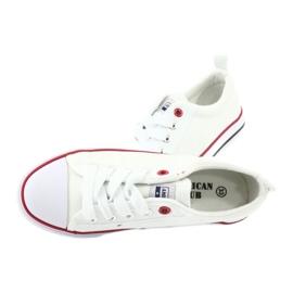 American Club Baskets blanches américaines LH25 nouées 5