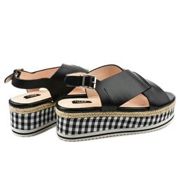 Sandales noires sur plateforme 1507-1 3