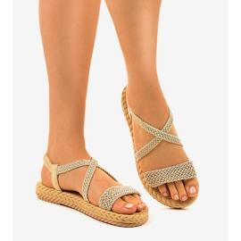 Sandales femme C602 beiges brun 1