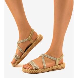 Sandales femme C602 beiges brun 2