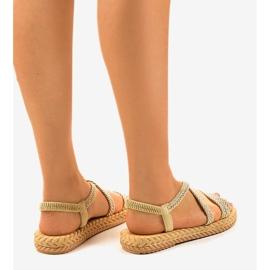 Sandales femme C602 beiges brun 3