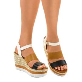 Sandales compensées espadrilles noires VB76062 1