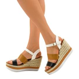 Sandales compensées espadrilles noires VB76062 2