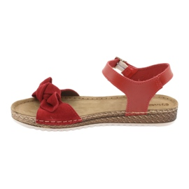 Chaussures femme Comfort Inblu 158D117 rouge 2