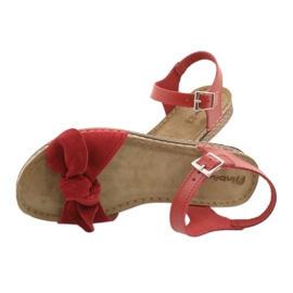 Chaussures femme Comfort Inblu 158D117 rouge 5