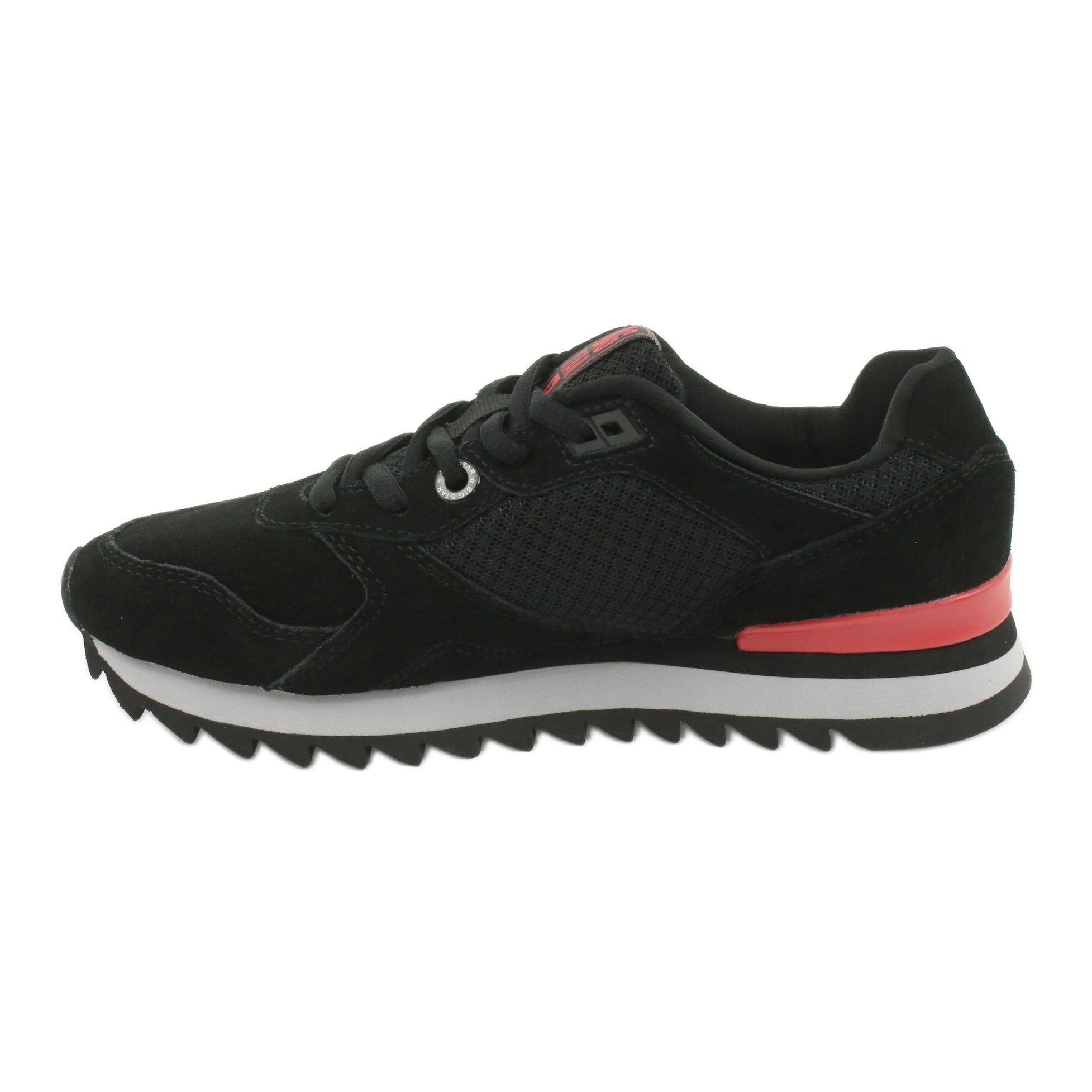 miniature 2 - Chaussures de sport BIG STAR GG274524 noir rouge