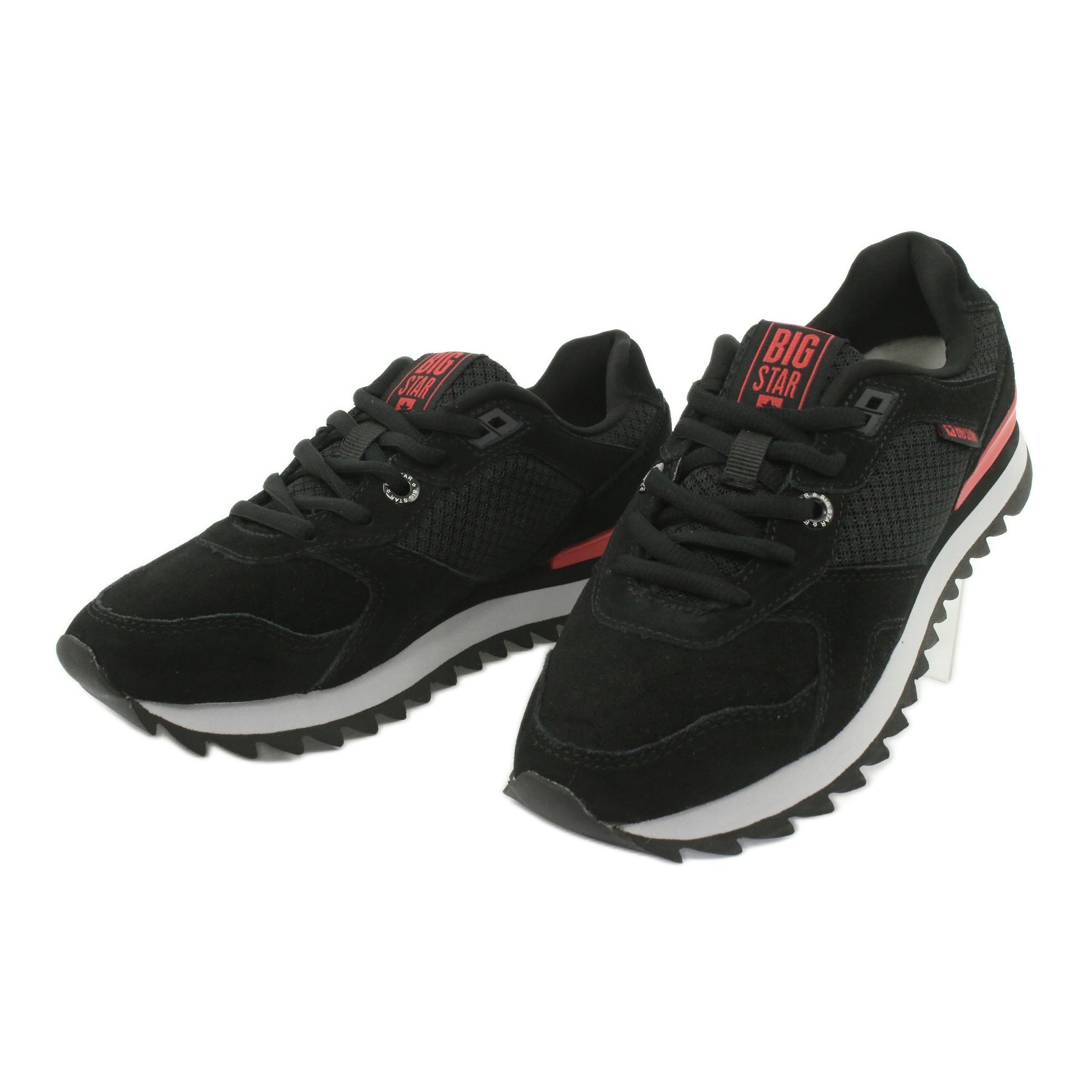 miniature 3 - Chaussures de sport BIG STAR GG274524 noir rouge