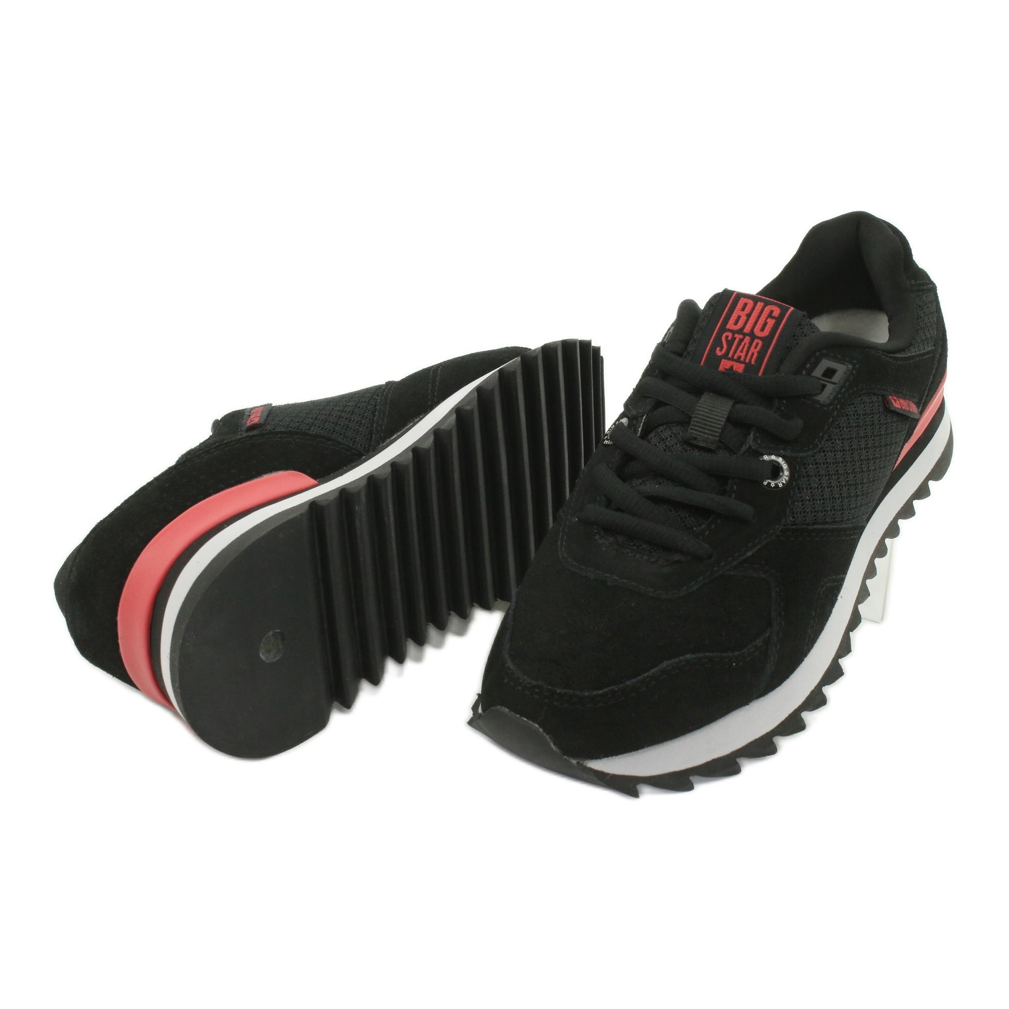 miniature 4 - Chaussures de sport BIG STAR GG274524 noir rouge
