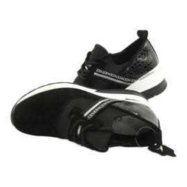 Filippo Chaussures de sport en cuir Slipony DP1388 / 20 BK Nice 4