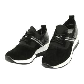 Filippo Chaussures de sport en cuir Slipony DP1388 / 20 BK Nice 2