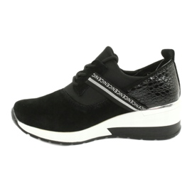 Filippo Chaussures de sport en cuir Slipony DP1388 / 20 BK Nice 1