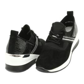 Filippo Chaussures de sport en cuir Slipony DP1388 / 20 BK Nice 3