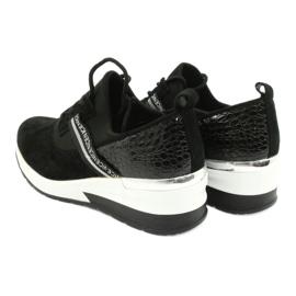 Filippo Chaussures de sport en cuir Slipony DP1388 / 20 BK Nice 5
