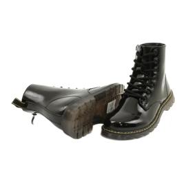 Bottes en cuir verni noir Evento 20DZ23-3216 Marita 5