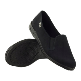 Chaussons à enfiler noirs Befado 001M060 3