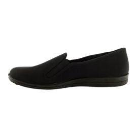 Chaussons à enfiler noirs Befado 001M060 2