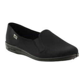 Chaussons à enfiler noirs Befado 001M060 1