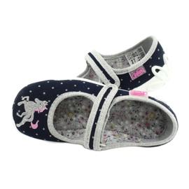Befado chaussures pour enfants 114X414 marine gris 5