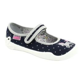 Befado chaussures pour enfants 114X414 marine gris 1