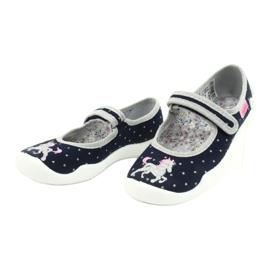 Befado chaussures pour enfants 114X414 marine gris 3