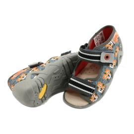 Chaussures enfants Befado jaune 350P016 orange gris 4