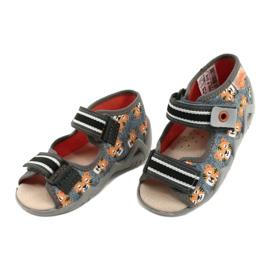 Chaussures enfants Befado jaune 350P016 orange gris 3