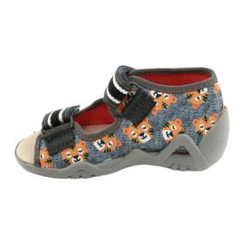 Chaussures enfants Befado jaune 350P016 orange gris 2