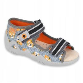 Chaussures enfants Befado jaune 350P016 orange gris 1