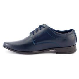 Lukas Chaussures de communion formelle enfant J1 bleu marine 3