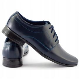 Lukas Chaussures de communion formelle enfant J1 bleu marine 1